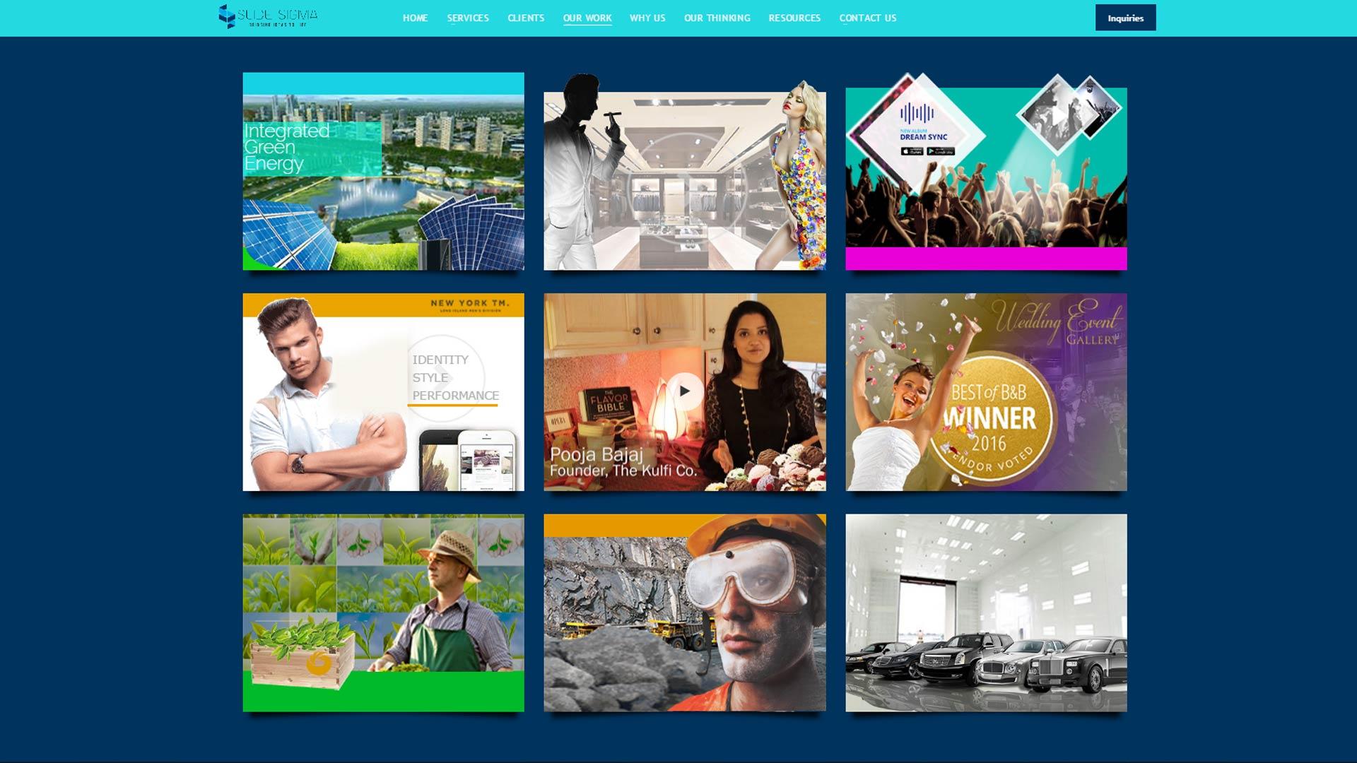 Website Design Portfolio by Slidesigma a new York based agency