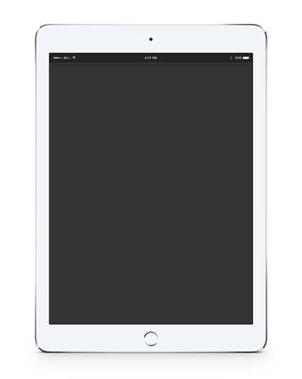 ipad Responsive page design